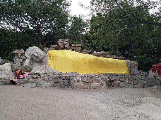 Thousand-buddha Cliff Statues: Lying Buddha Statue