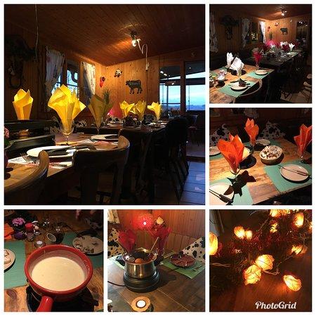 Besenbeiz Rotblattstübli: Fondue, Pizza, Raclette, Grill oder sonst Fondue Chinoise
