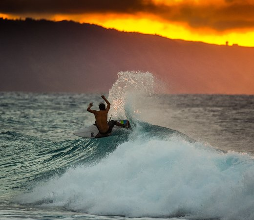 Sunset snap at Pipeline