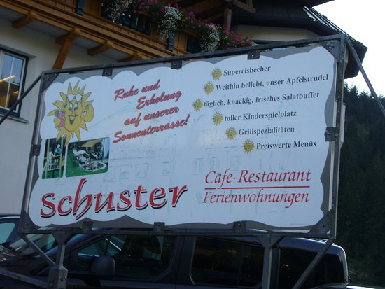 Nesselwaengle, Austria: Cafe-Restaurant Schuster
