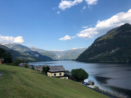 Grundlsee, Austria: view from terrace to the left II