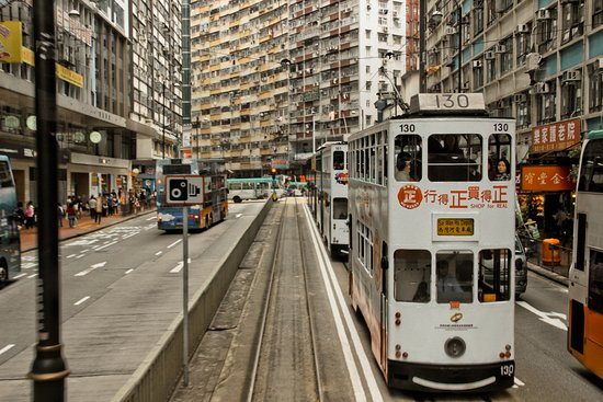 Hong Kong Tramways (Ding Ding): Old style transport in hong kong !!!! Super cheap with only 2 hk dollar from head to last statio