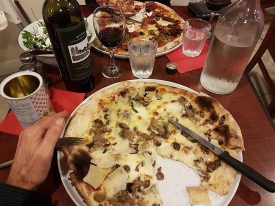 "Maylands, Australia: my 4 mushroom and 4 cheese pizza ""4x4"""