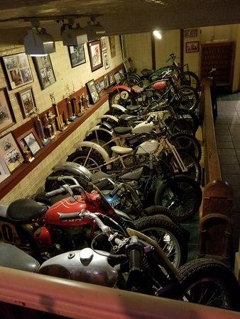 Savanna, IL: lower level - one row of antique bikes
