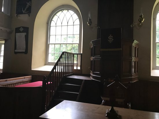 East Church: Pulpit is focus of church