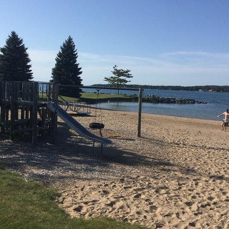 Peninsula Beach: Nice for kids. Now has better access for stroller and wheel chair.