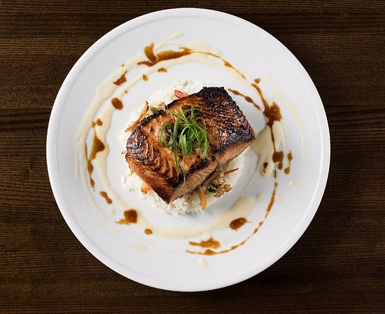 Prairie Village, KS: Red Miso Glazed Salmon