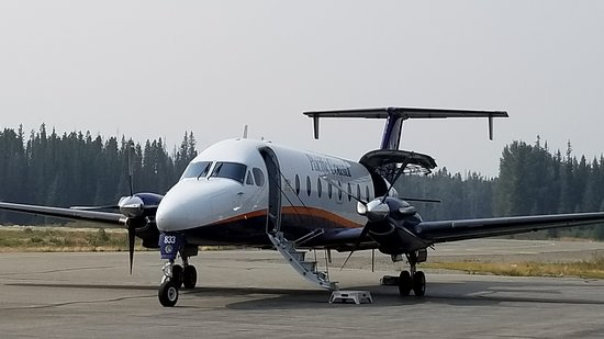 Pacific Coastal Airlines: Beechcraft 1900D seats 18 passengers, everyone gets a window seat.