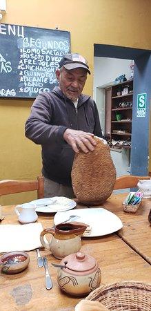 Quellomayo, Perù: Jackfruit from their garden