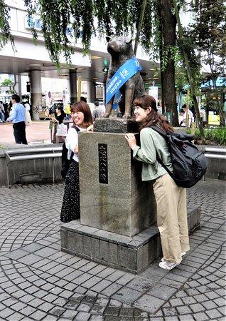 Hachiko: Токио. Памятник Хачико.