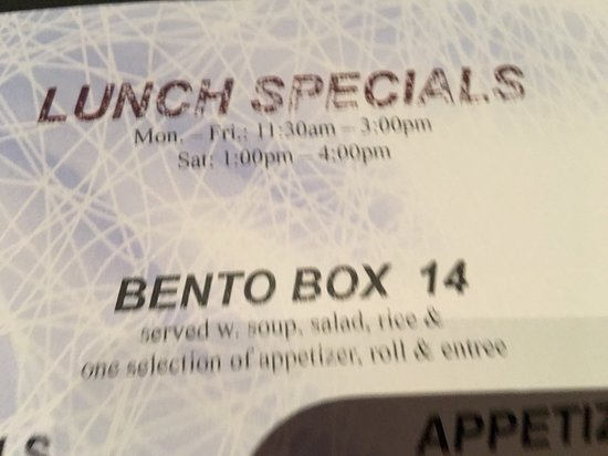Montgomery, NJ: Many choices include attractive Bento Box with cover