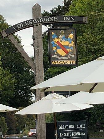 Colesbourne, UK: Outside the restaurant