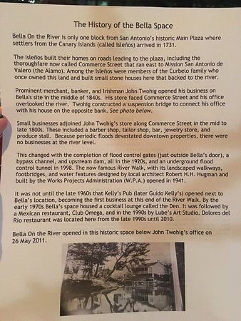 History of Bella on the River - Picture of Bella On Houston