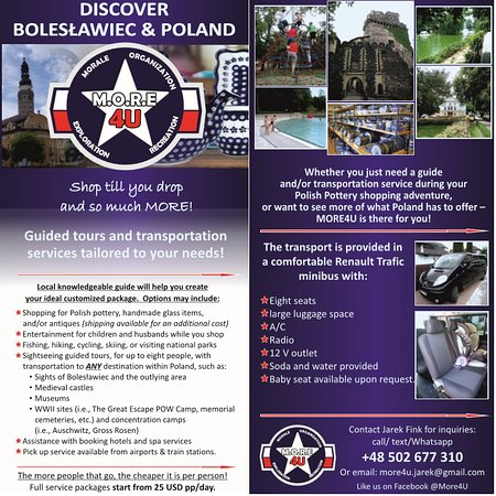 Bolesławiec, Polonia: leaflet by More4U.... so much more than just shopping!