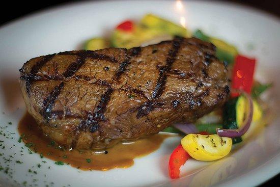 Sun Prairie, WI: Drunken Steak - Top Sirloin marinated in Samual Adams with an herbaceous cream sauce