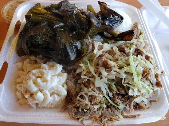 Lau Lau And Kalua Pork With Cabbage Picture Of L L Hawaiian Bbq Tacoma Tripadvisor
