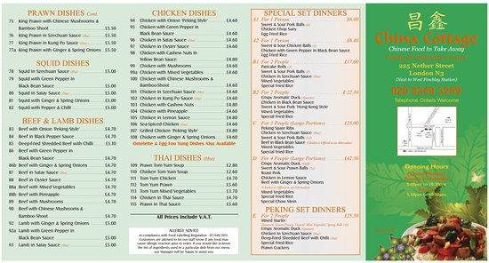 China Cottage London Restaurant Reviews Photos Phone Number Tripadvisor