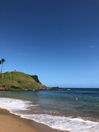 Itamaraju: Playa frente al hotel