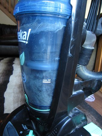 Albrightsville, PA: They left us this overfilled vacuum cleaner so we had to use broom in the whole house for 7 days