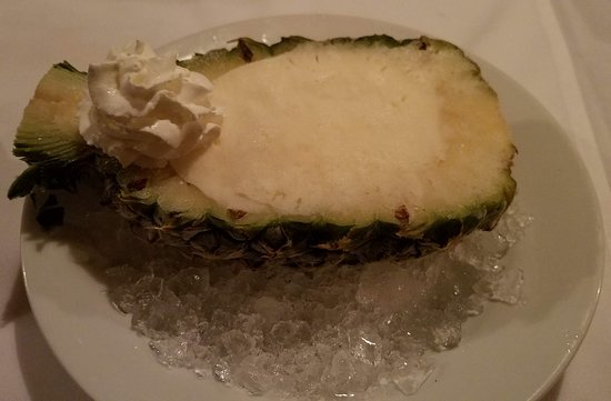 Queens Village, NY: At least my pineapple sorbet is frozen on ice. Where did they find such a bambino pineapple?