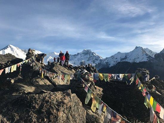 Gokarneshwor, Nepal: Gokyo Ri, with the background of Cho Oyu and Gyachungkang