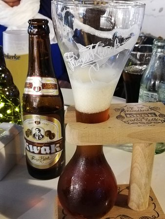 Drinking a beer