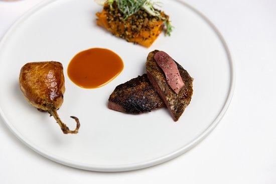 Marcus: Yorkshire grouse, braised borlotti beans, carrot