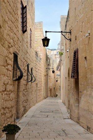 Mdina Old City: narrow streets