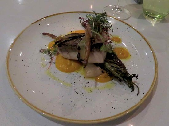 Bills Fishhouse + Bar: Kingfish, with heirloom carrot and charred leek