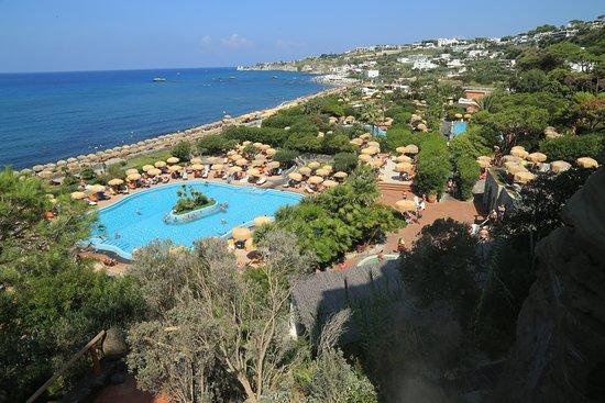 Giardini Poseidon Terme: Il parco visto dalla zona del bagno turco