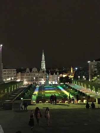 Walked upon this on the way back to the hotel. Lighted parks are always nice.