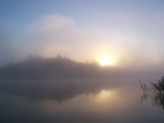 Derrylin, UK: Misty morning on our lake, L. Erne
