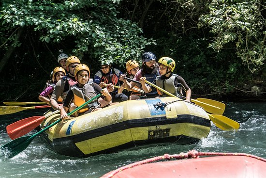 Arrone, Italie : rafting soft