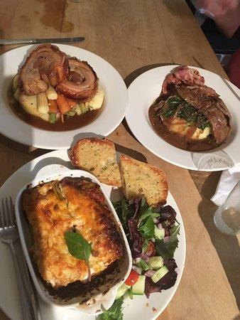 Eastbridge, UK: Our wonderful lunch.