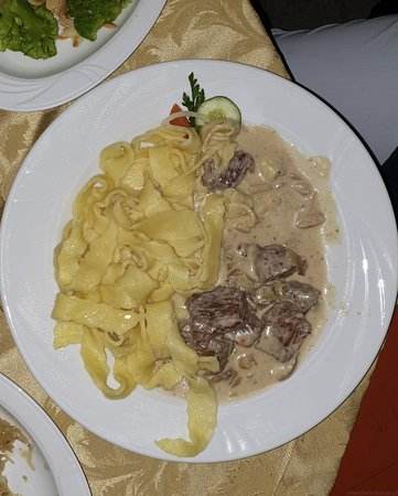 ‪‪Milicz‬, بولندا: A local dish from a restaurant - pasta‬