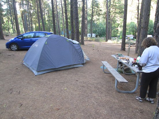 Brooks Memorial State Park: tent camping and cooking