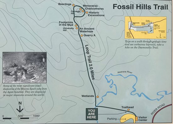 Harrison, Небраска: Map of the Fossil Hills Trail