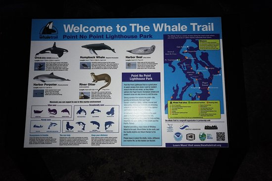 Hansville, WA: Point No Point Lighhouse Whale Trail sighting info.