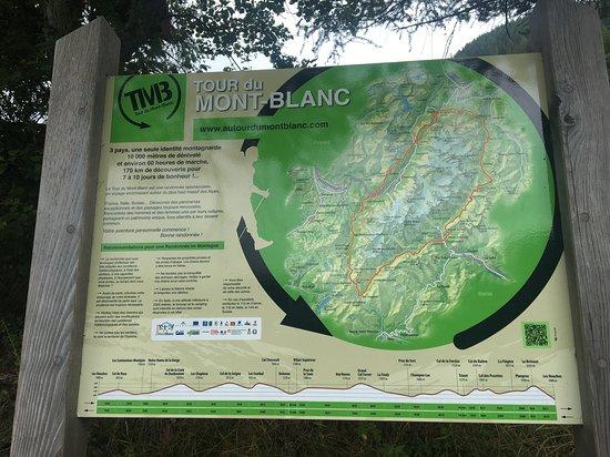 Trient, Schweiz: ツールドモンブランの案内板