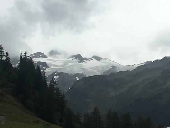 Trient, Schweiz: 氷河も遠望できました