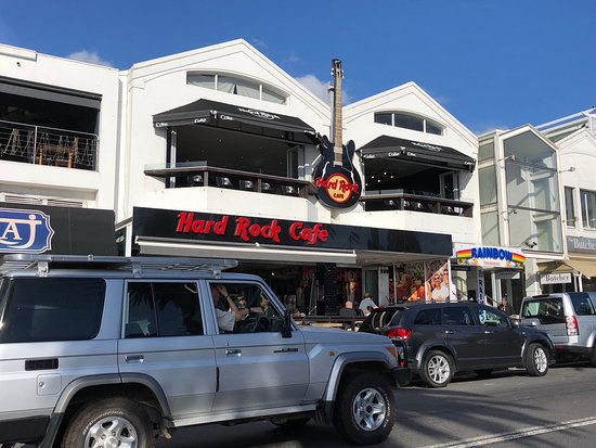 Hard Rock Cafe: The front of HRC Cape Town seen from across the road, near the beach