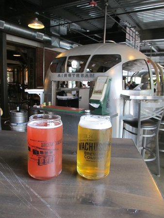 Wachusett Brewing Company: in the bar with 2 cold ones and the Airstream