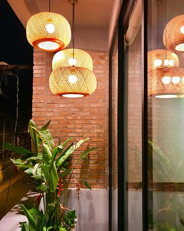 An Vietnamese BBQ & Hotpot: outdoor terrace