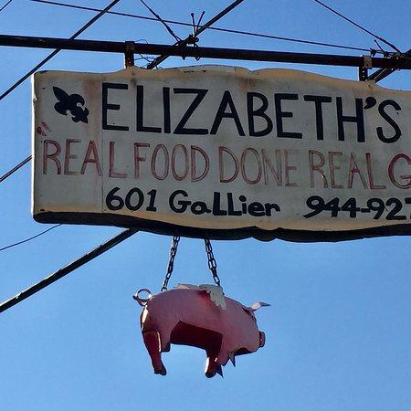 Elizabeth S Restaurant New Orleans La Menu