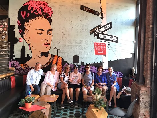 Albany, NY: Tour guests meet Freda at the intersection of Pearl Street and Sheridan Ave. - ama cocina