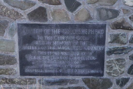 Church of the Good Shepherd - plaque