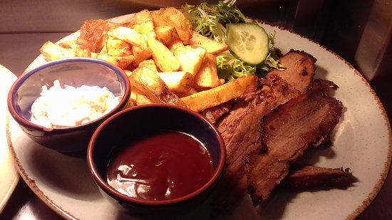 Whitland, UK: Beef brisket McCoys barbecue
