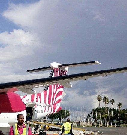 Jambojet: this is the picture of the flight at Nairobi Jomo Kenyatta International Airport.