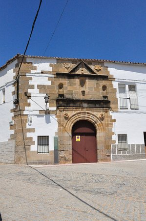 Alcantara, Spain: Street front view.