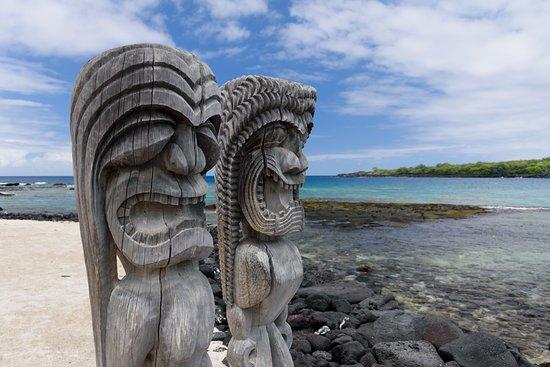 Honaunau, Hawái: Rzeźby